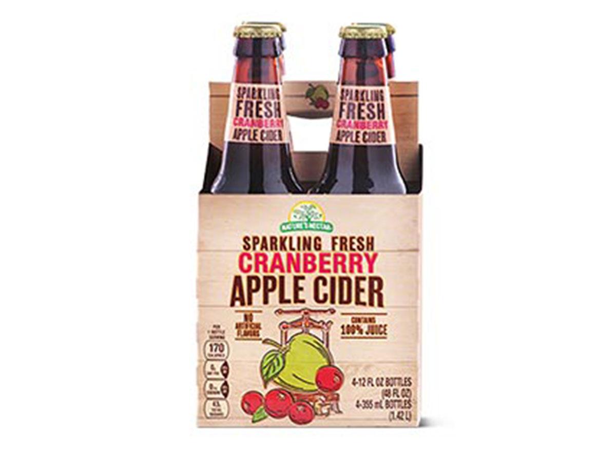 ALDI sparkling fresh cranberry apple cider