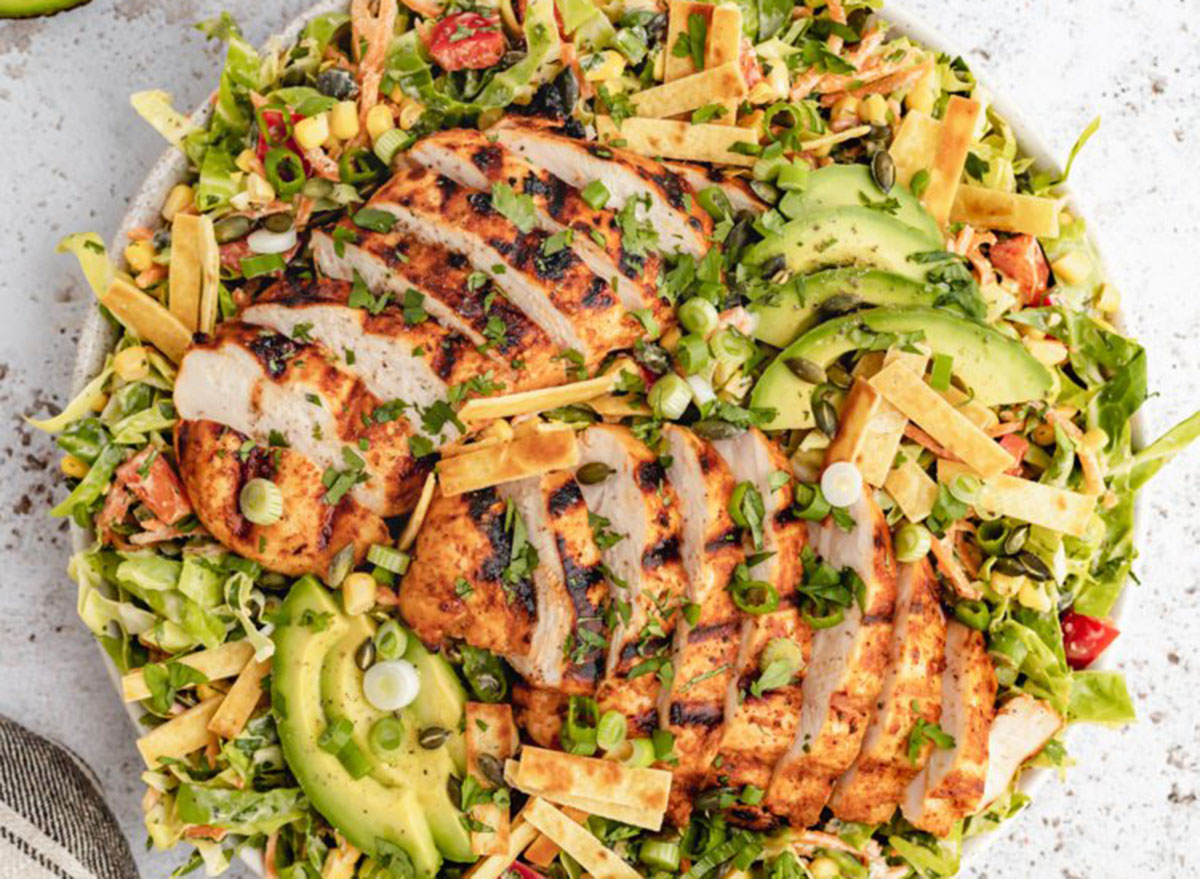 spicy ranch chopped chicken cabbage salad
