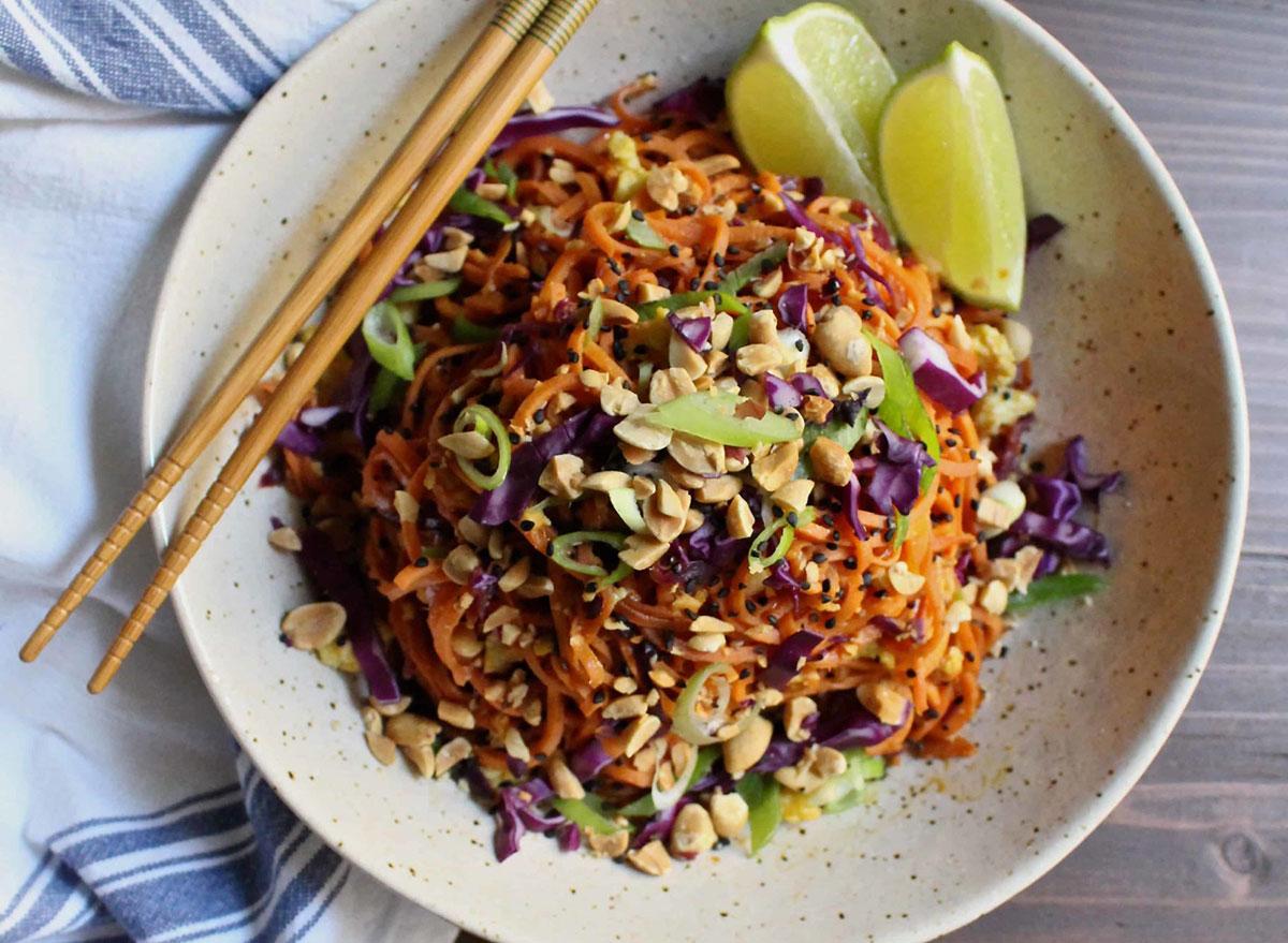 sweet potato cabbage pad thai