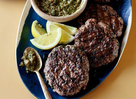 Lamb Burgers With Pistachio Pesto