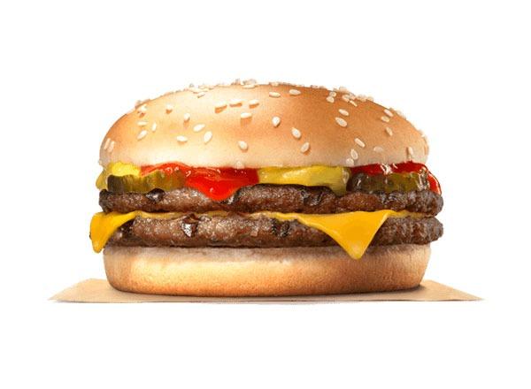 Fast food burgers ranked Burger King Double Cheeseburger