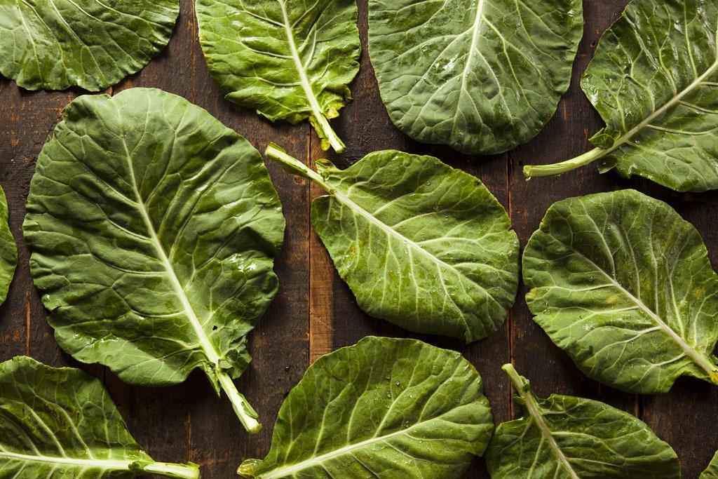 Spring foods collard greens