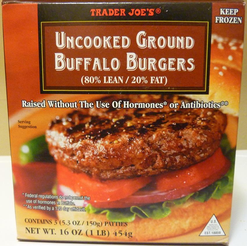 trader joes buffalo burgers