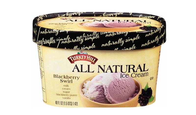 turkey hill all natural blackberry swirl ice cream
