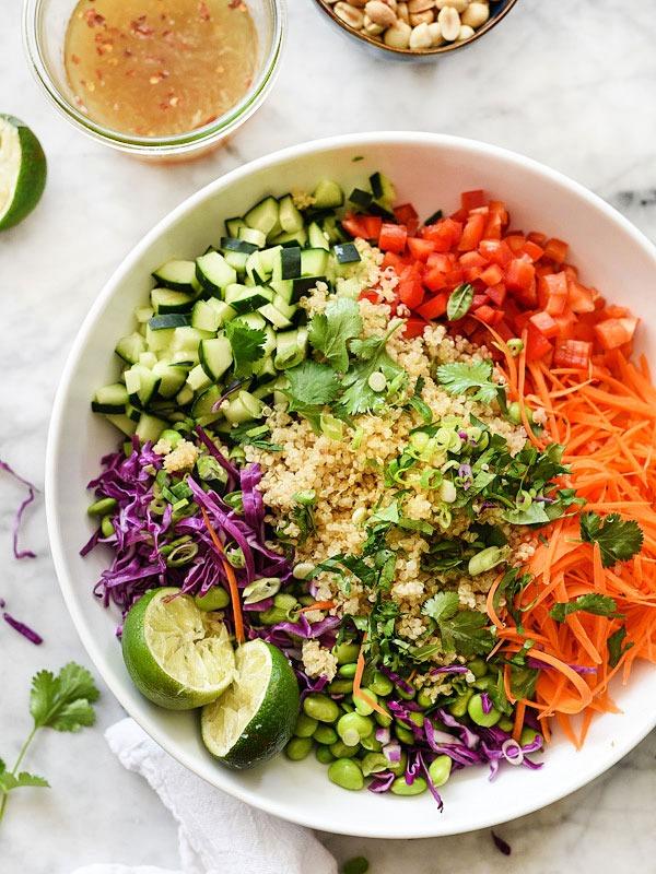 Bowl roundup thai qunioa salad