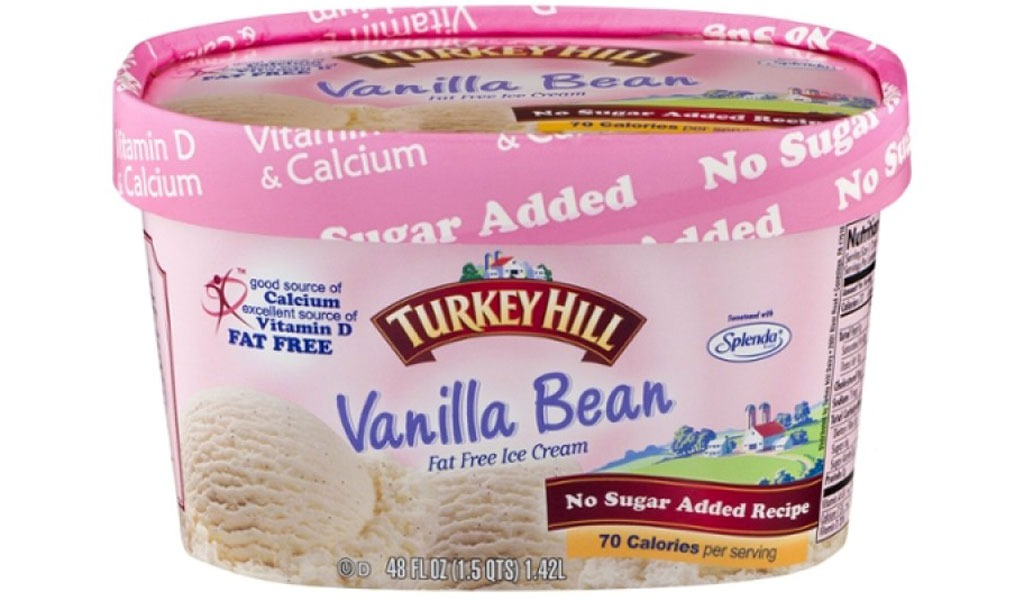 turkey hill no sugar added vanilla bean