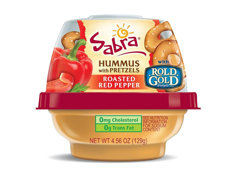 Sabra hummus pretzel snack
