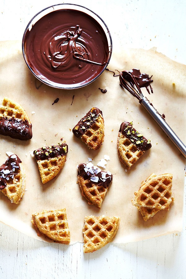 Holiday desserts waffle bites