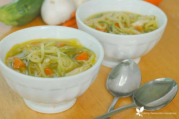 06. Chicken Zoodle Soup with Homemade Bone Broth