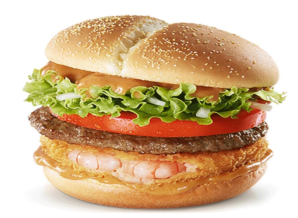 mcdonalds korea shrimp beef burger