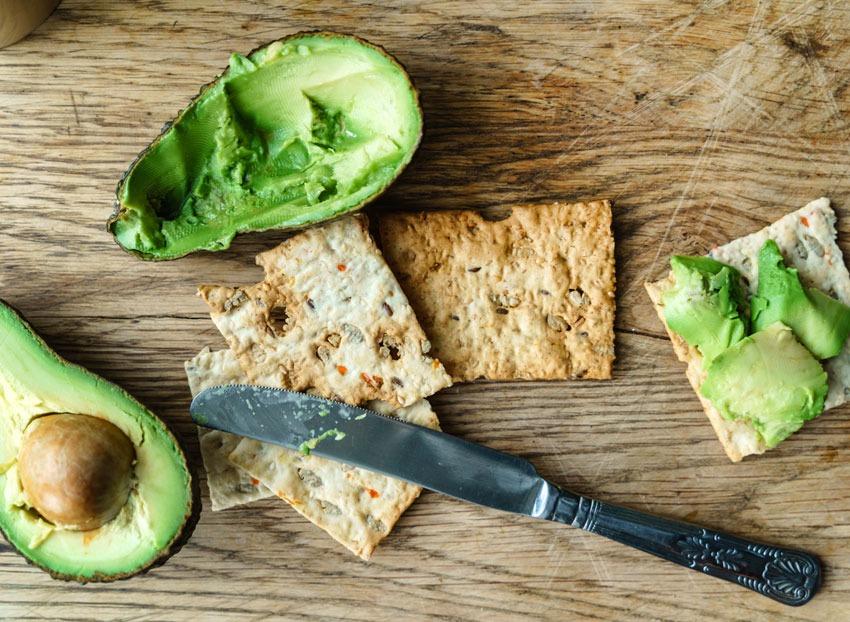 avocado cracker spread