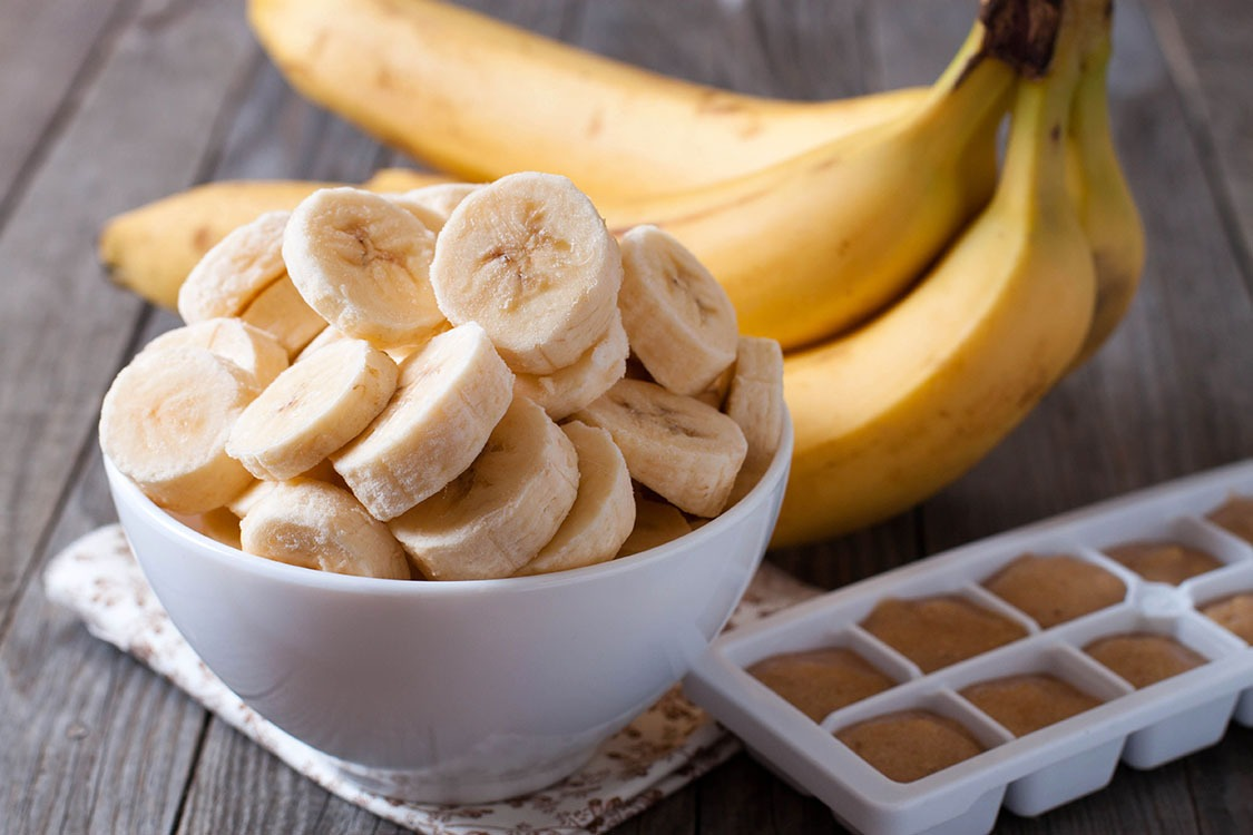 Banana slices bowl