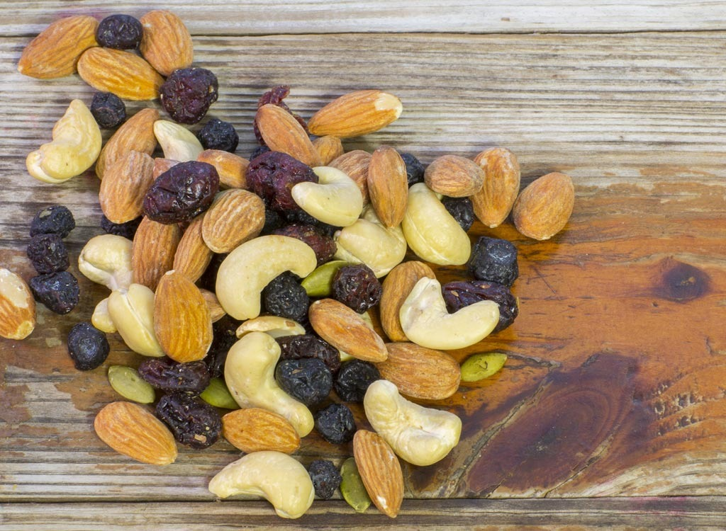 Chocolate trail mix - foods for energy