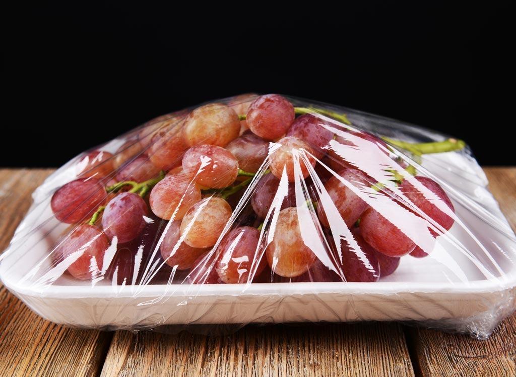 grapes plastic wrap