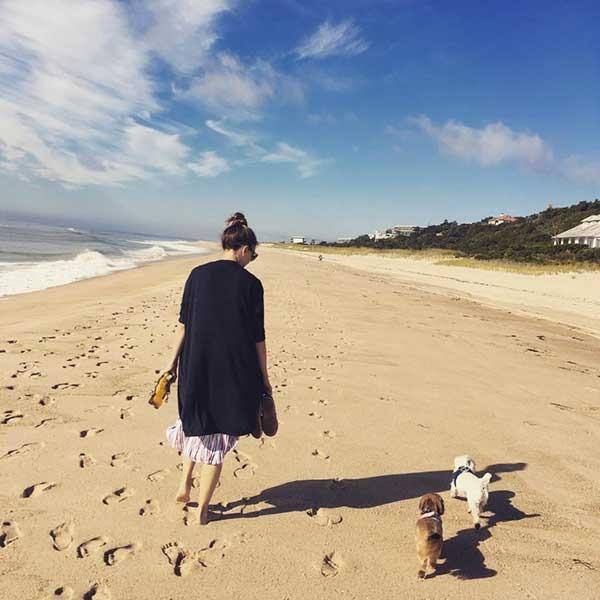 Sutton Foster on beach