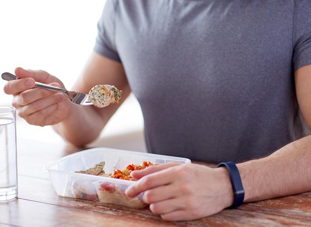 plastic food conteiner eating
