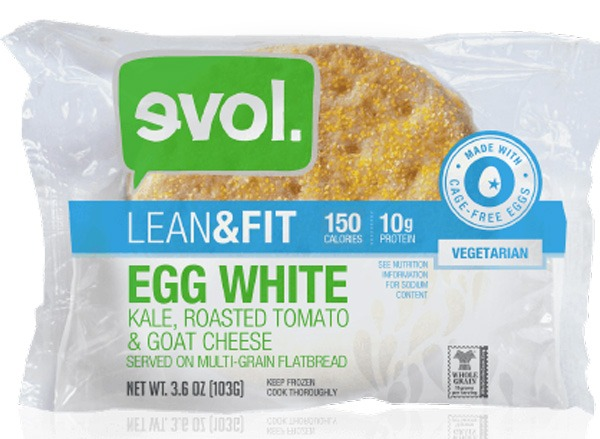 evol foods lean & fit egg white, kale, roasted tomato & goat cheese