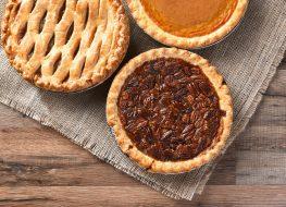 Frozen pies pecan pumpkin apple