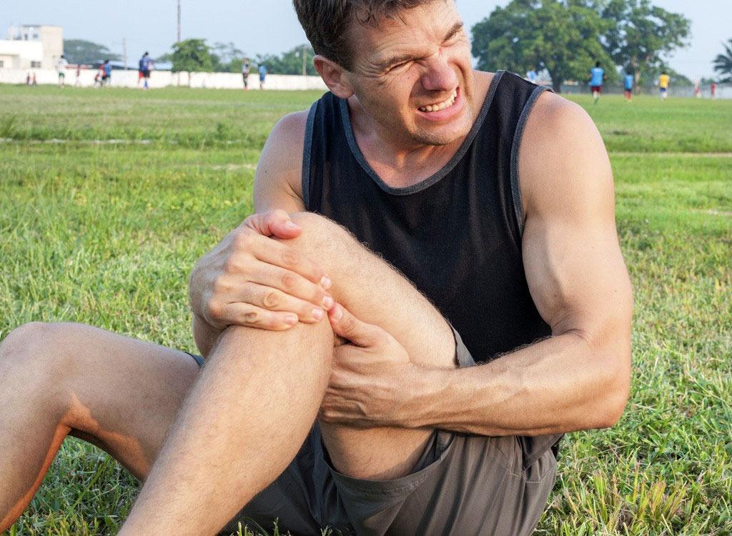 Man with knee pain possible broken bone