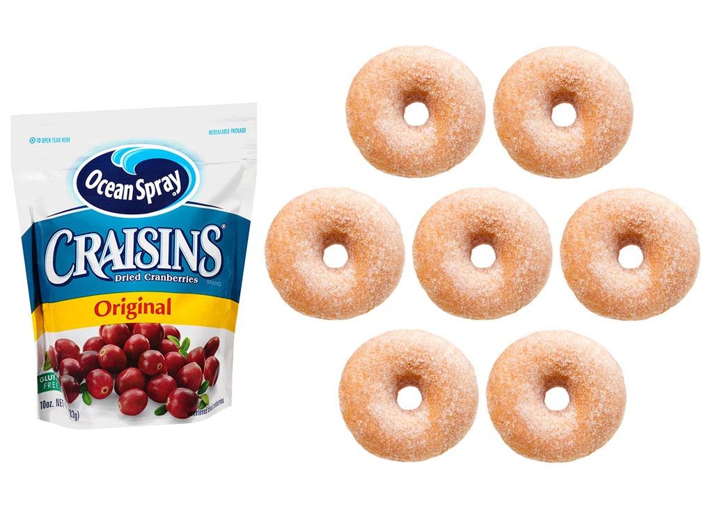 Foods worse than donut craisins