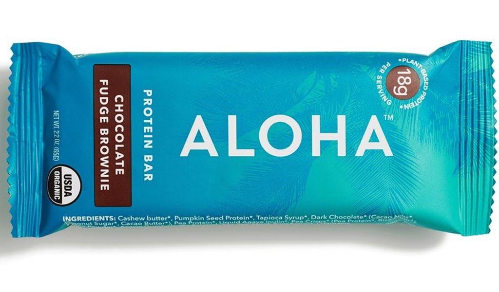 aloha chocolate fudge brownie protein bar