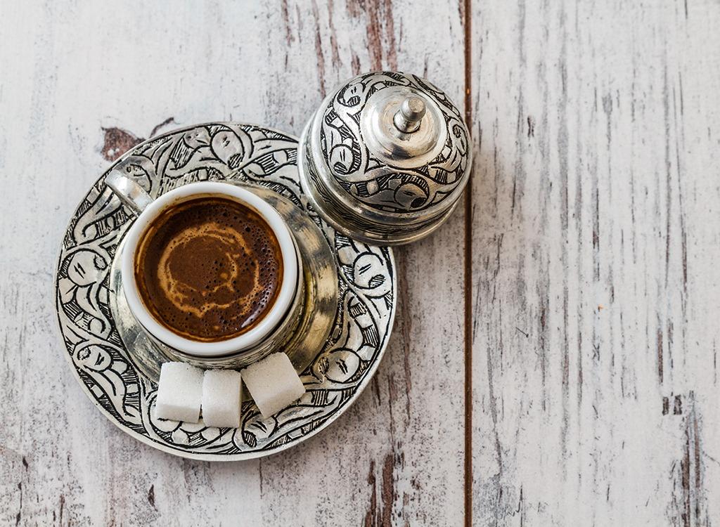 worst middle eastern food - turkish coffee