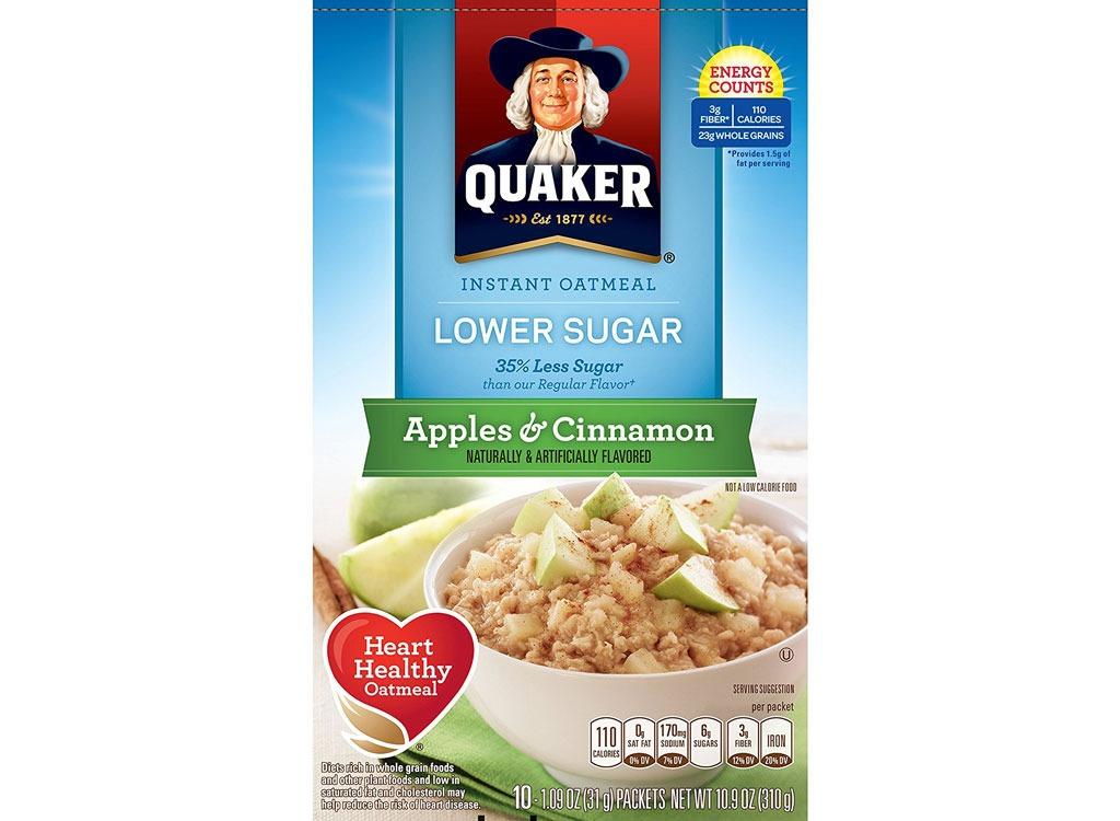 quaker lowersugar applescinnamon
