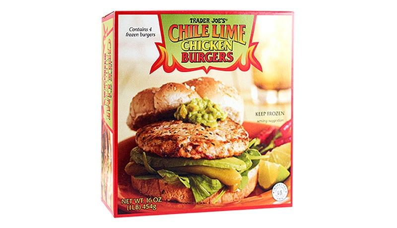 trader joes chile lime chicken burgers - best trader joe's frozen meals