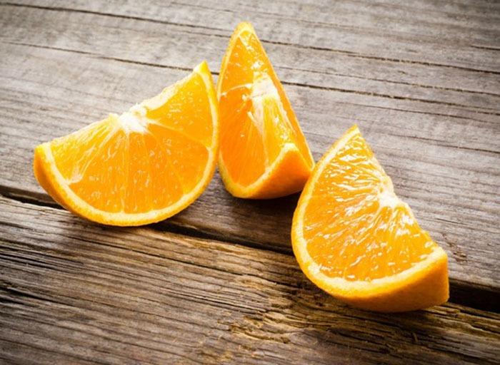 Orange slices - calcium rich foods