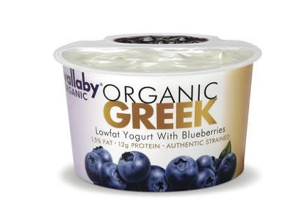 wallaby organic greek lowfat blueberry yogurt