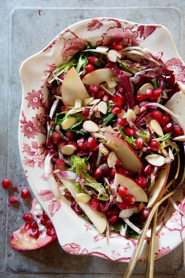 apple and pomegranate frisee