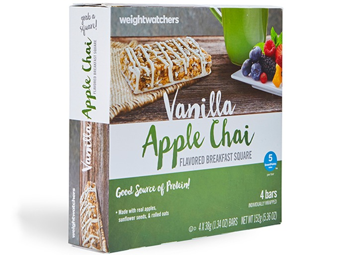Weight Watchers Vanilla Apple Chai Flavored Breakfast Square