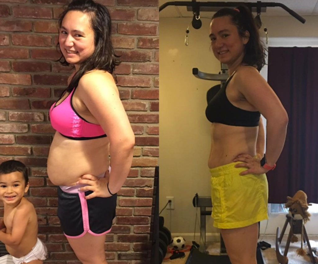 woman weight loss progress pictures