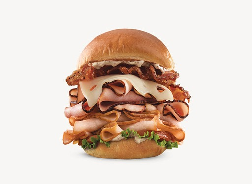 arbys half pound club sandwich
