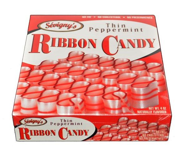 SEVIGNYS THIN PEPPERMINT RIBBON CANDY
