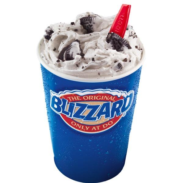 DQ's Oreo Cookies Blizzard Treat
