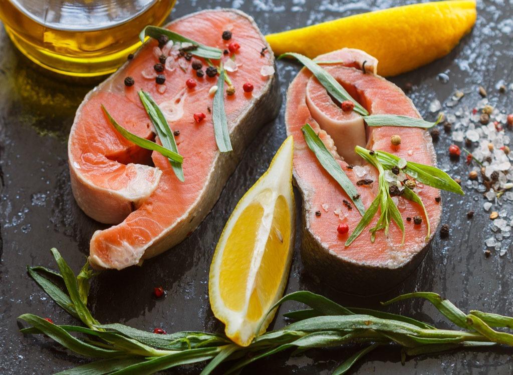Tarragon salmon - best foods for gut health