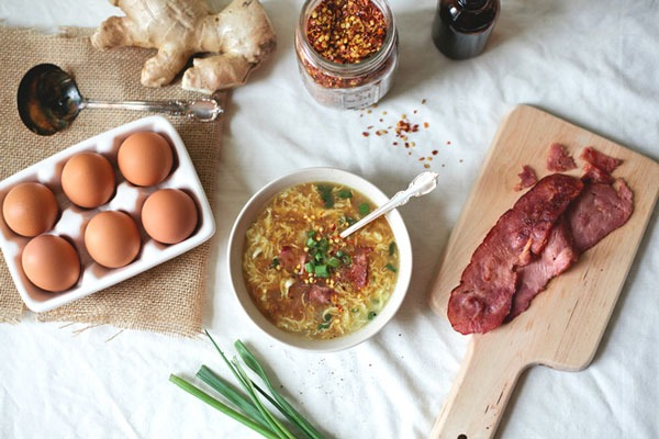 Bacon and Egg Drop Soup