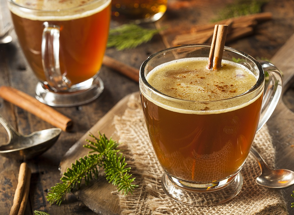 Holiday food hot buttered rum