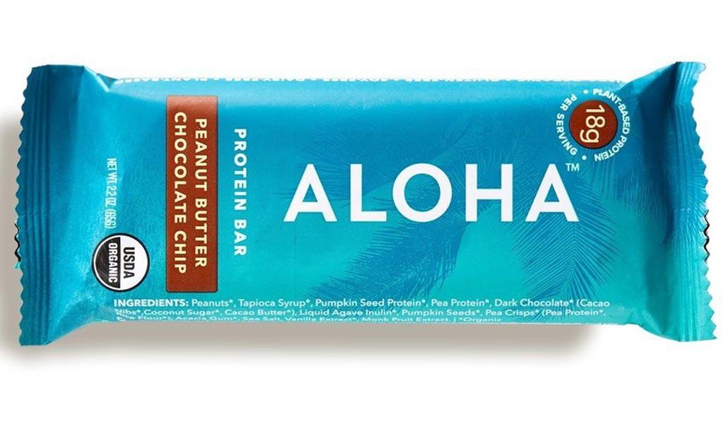 aloha peanut butter chocolate chip protein bar