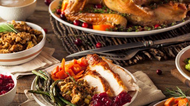christmas dinner spread
