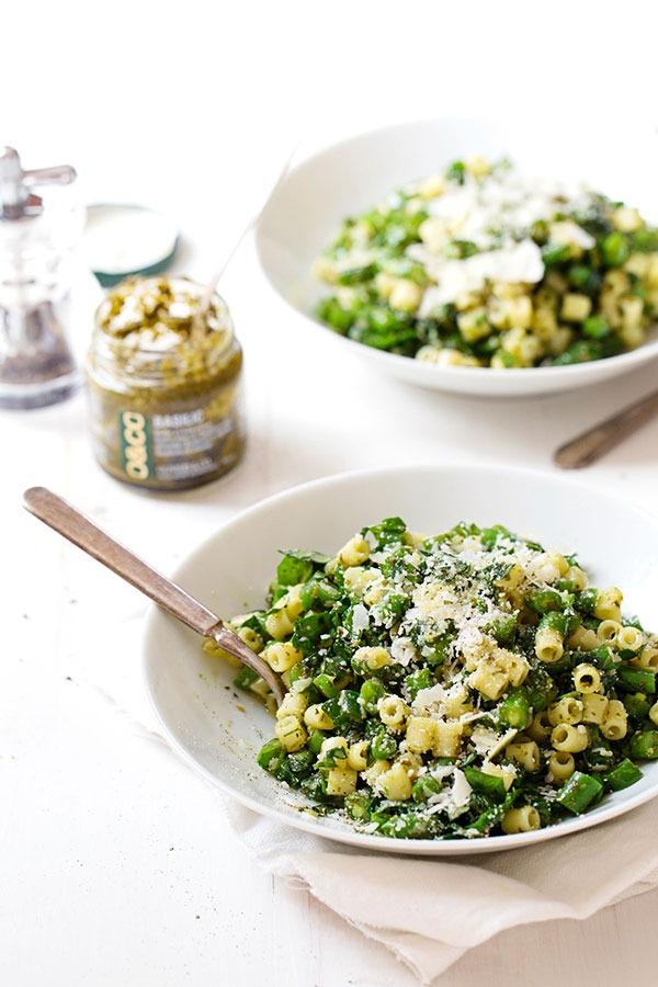 5 ingredient green pasta salad