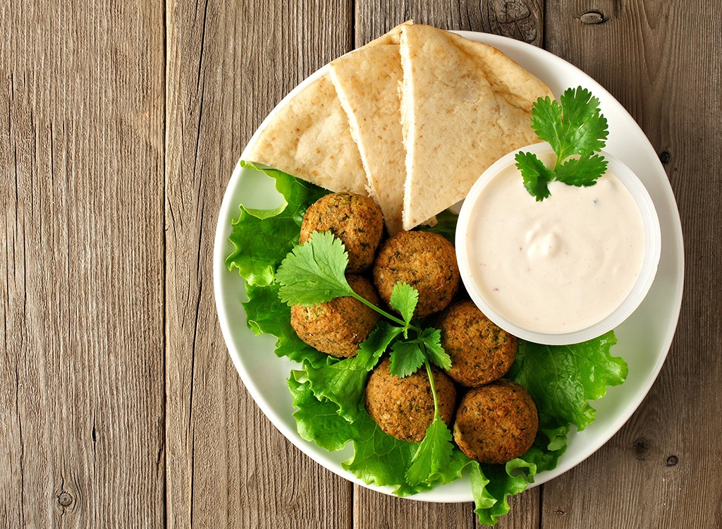 falafel and tzaziki