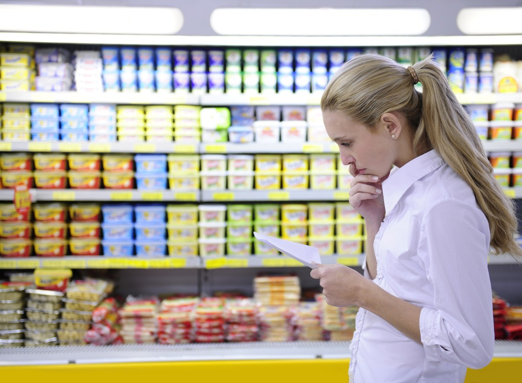 woman shopping list