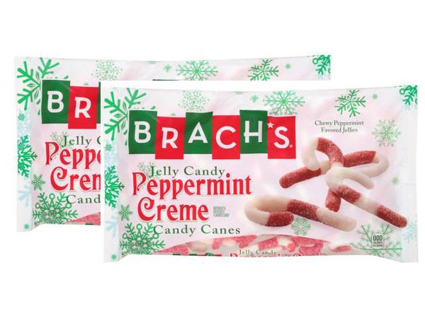BRACHS JELLY CANDY PEPPERMINT CREME CANDY CANES