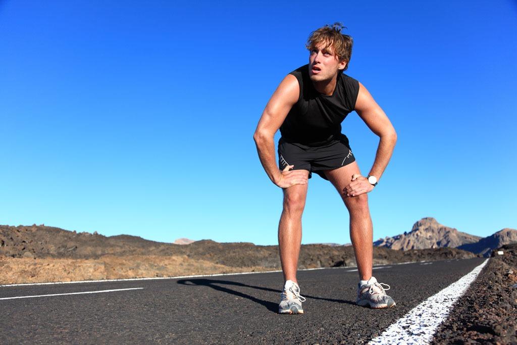 Motivational tips man running