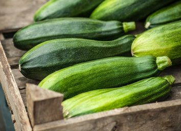 carton of raw zucchini
