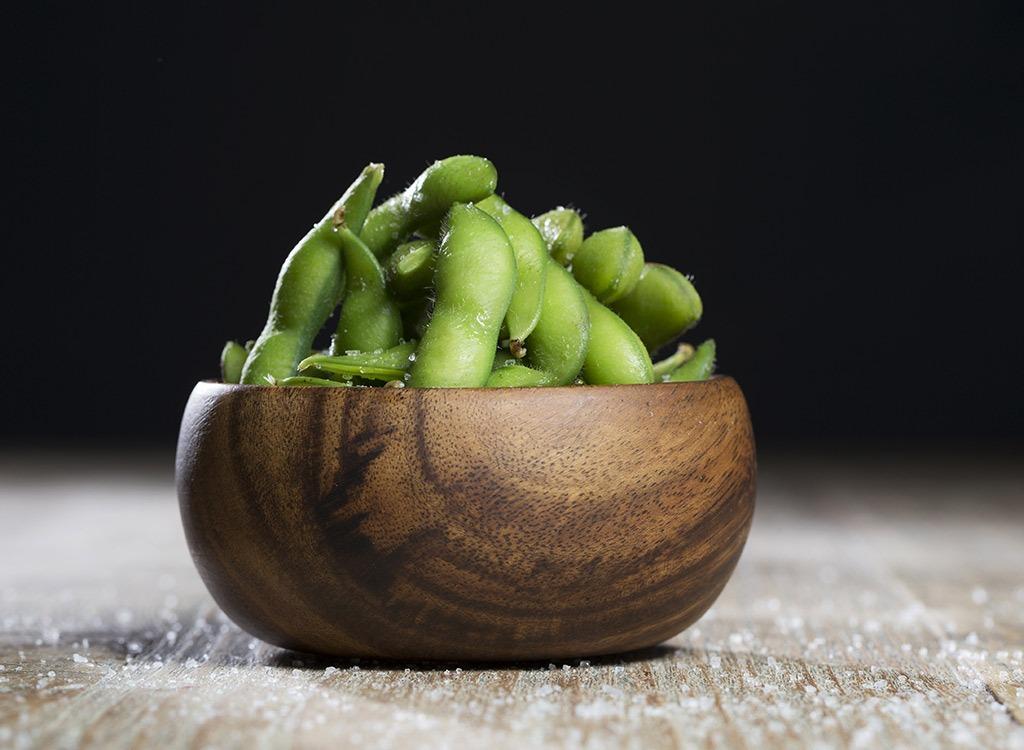 toned body soy beans edamame