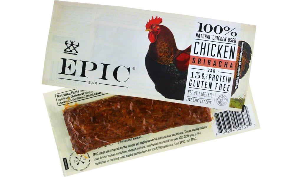 Epic Bar Chicken Sriracha Bar - low carb snacks