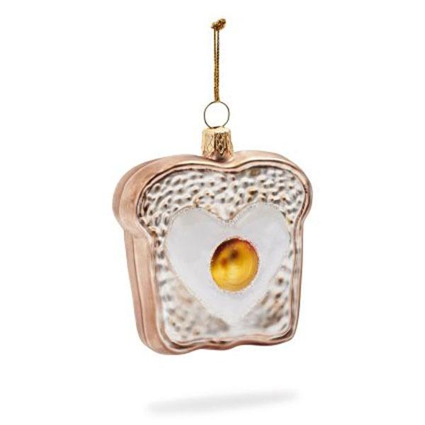 egg toast ornament